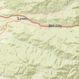 Usgs Site Map For Usgs 14185900 Quartzville Creek Near Cascadia Or