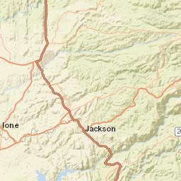 Online Map, Sacramento County, California, USA