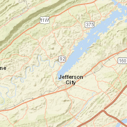 Usgs Site Map For Usgs 03461500 Pigeon River At Newport Tn