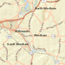 Windham, CT on pomfret map, hampton map, middletown map, columbia map, hebron map, manchester map, tar hollow state park map,