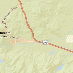 Mammoth Mountain Monitoring Map