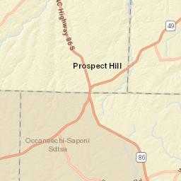 North Carolina - Durham County Map on