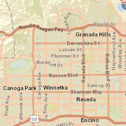 Reseda Zip Code Map.Resident School Identifier