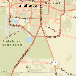 Map Of Tallahassee Florida.Tallahassee Outage Map
