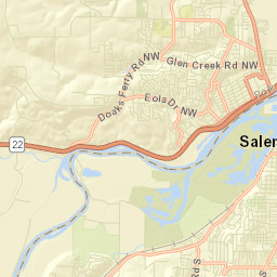 ArcGIS - Neighborhoods of Salem, Oregon