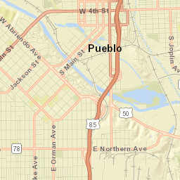 Pueblo Colorado Regional Bicycle And Multi Use Trail Map