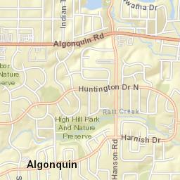 Algonquin Illinois Map.Algonquin Lake Of The Hills Fpd Il