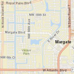 Margate Florida Map.Margate Fl