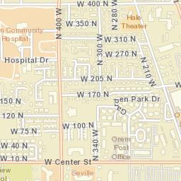 Orem Utah Zip Code Map.Usps Com Location Details