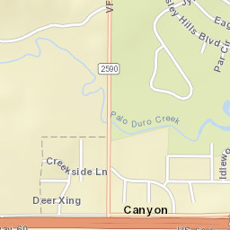 Canyon, TX Swipe Map on government canyon state park trail map, canyon utah map, wamplers lake michigan map, amarillo canyon map, montgomery county tx zip code map, the canyons of ancients map, canyon california map, palo duro canyon map, canyon tx,