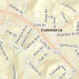 Commerce Georgia Map.Usps Com Location Details
