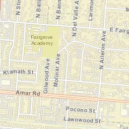 La Puente Zip Code Map.Usps Com Location Details