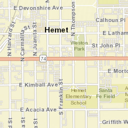 Hemet Ca Zip Code Map.Usps Com Location Details