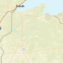 Wisconsin Department of Natural Resources Map of Distribution of WI
