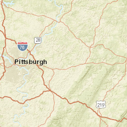 Pittsburgh On Map Of Usa.Pennsylvania Mine Map Atlas