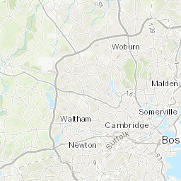 Bedrock geologic maps of the Boston North Boston South and Newton