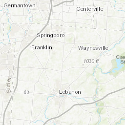 Springboro Ohio Map.Noaa National Weather Service Water County