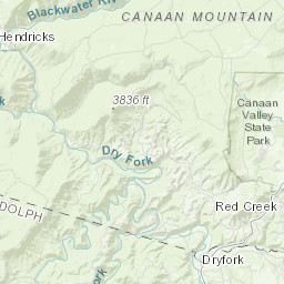 on canaan valley trail map