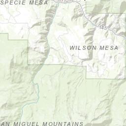 Geologic Map Of The Dolores Peak Quadrangle Dolores And San Miguel