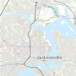 Florida Map Jacksonville.Duval Property Map