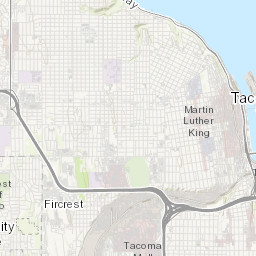 District Map City of Tacoma