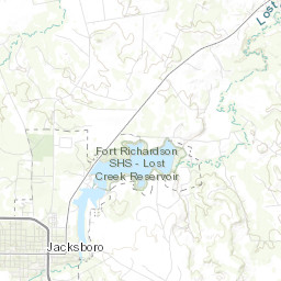 Map Of Jacksboro Texas.Fort Richardson State Park Historic Site Lost Creek Reservoir