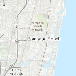 Map Of Pompano Beach Florida.Engineering