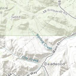 on deadwood map