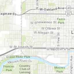 Southwest Lansing Map Lansing Mi Neighborhoods
