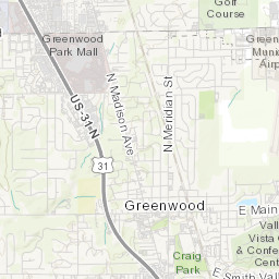 Greenwood Snow Event Map