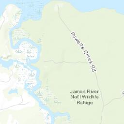 Refuge Map James River Us Fish And Wildlife Service - James-river-on-us-map