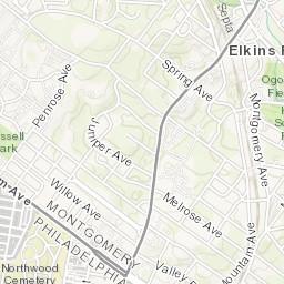 Map: Firefighter killed in West Oak Lane