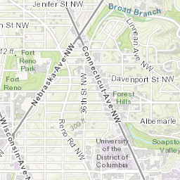 on z00 map of nw washington dc