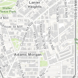 Adams Morgan Dc Map.Dc Latino History Map