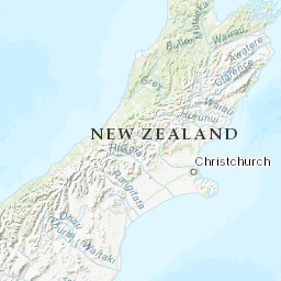 Southern Alps New Zealand Map.Southern Alps Peakbagger Com