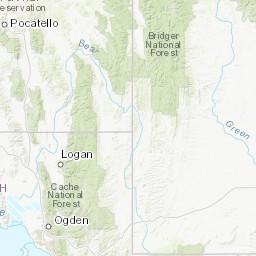 Northern Utah Peaks > 500\' Prominence (SOTA) Map