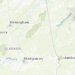 Panhandle Florida Map.Florida Panhandle South Alabama Peakbagger Com