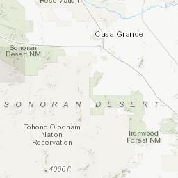 Map Of Southeast Arizona.Geologic Map Of The Tohono O Odham Indian Nation Southern Arizona
