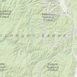 Sapphire Mountains Montana Map.Sapphire Mountains Peakbagger Com