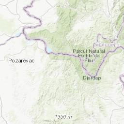Геоморфолошка карта Рeпубликe Србиje у рaзмeри 1 : 300 000